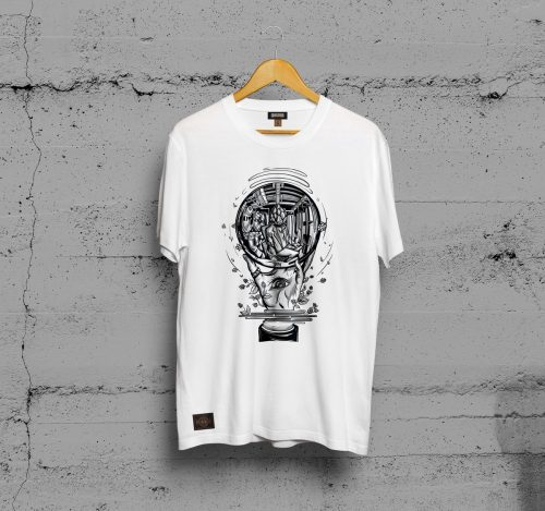 CAMISETA WHITE DISTORTION FEMININA